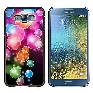 "Be-Star Único Patrón Plástico Duro Fundas Cover Cubre Hard Case Cover Para Samsung Galaxy E7 / SM-E700 ( Anime color del patrón de la burbuja"" )"
