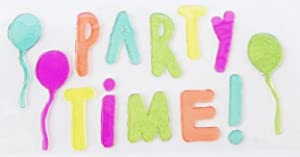 Retail Party Decor Gel Clings - Party Time with Balloons - 15 Piece