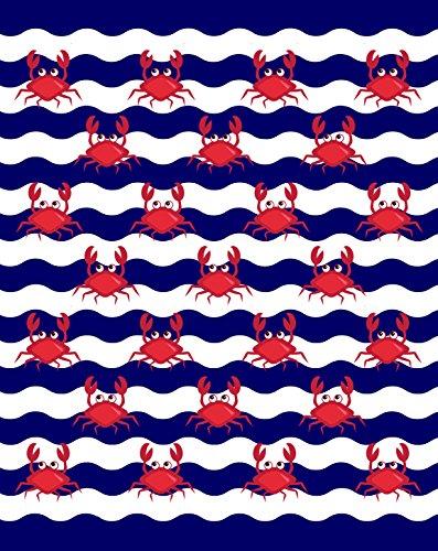 Multi Crabs Brazilian Velour Beach Towel 58x74 Inches