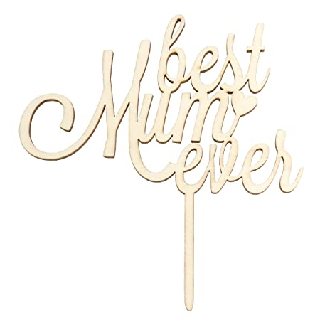 BESTOYARD Best Mom Ever Tarta Mamá Madera Cake Topper ...