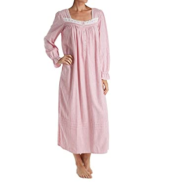 43369d143f Eileen West Women s Flannel Ballet Long Sleeve Nightgown