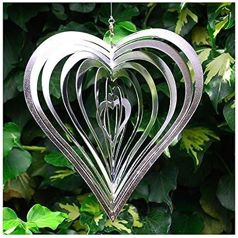 Cortavientos de Acero con Forma de corazón para el jardín: Amazon.es: Jardín