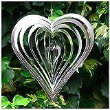 Heart Shaped Steel Windspinner For The Garden