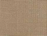 French Country Suede Brown Gingham Check Tie-Up Valance with Gingham Check Ties