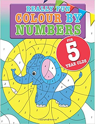 Really Fun Colour By Numbers For 5 Year Olds: A fun & educational ...