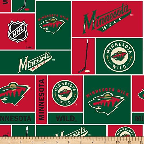 CAMELOT Fabrics 0572130 National Hockey League Minnesota Wild Fleece Fabric by The Yard