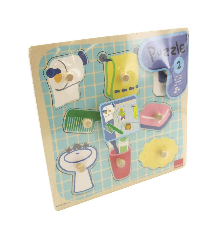 Jumbo D53032   Holzpuzzle Im Badezimmer, 8 Teile: Amazon.de: Spielzeug