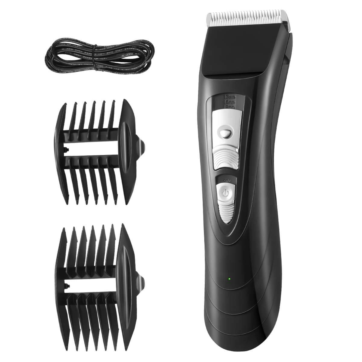Men's Beard Trimmer & Hair Clipper Set, Cordless Electric Hair Trimmer Kit (Black)