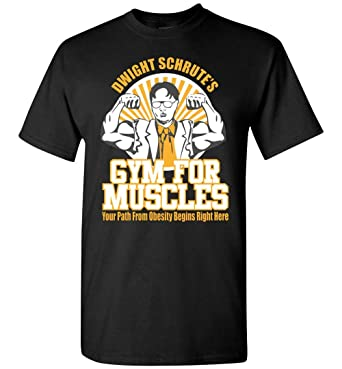 acd84c90 TSHIRTAMAZING Dwight Schrute Gym for Muscles T-Shirt Adult and Youth Size |  Amazon.com
