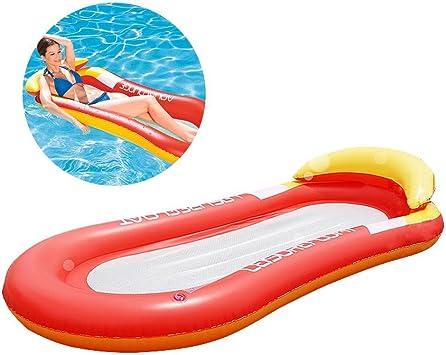 Fancylande Hinchable Piscina Hamaca Cama Hinchable Flotante de Agua Piscina Flotador Silla Tumbona Hinchable para el Verano Hamaca Piscina Flotante para Adultos, Rojo: Amazon.es: Deportes y aire libre