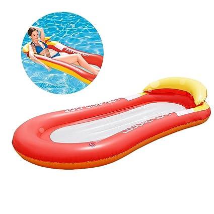Fancylande Hinchable Piscina Hamaca Cama Hinchable Flotante de Agua Piscina Flotador Silla Tumbona Hinchable para el