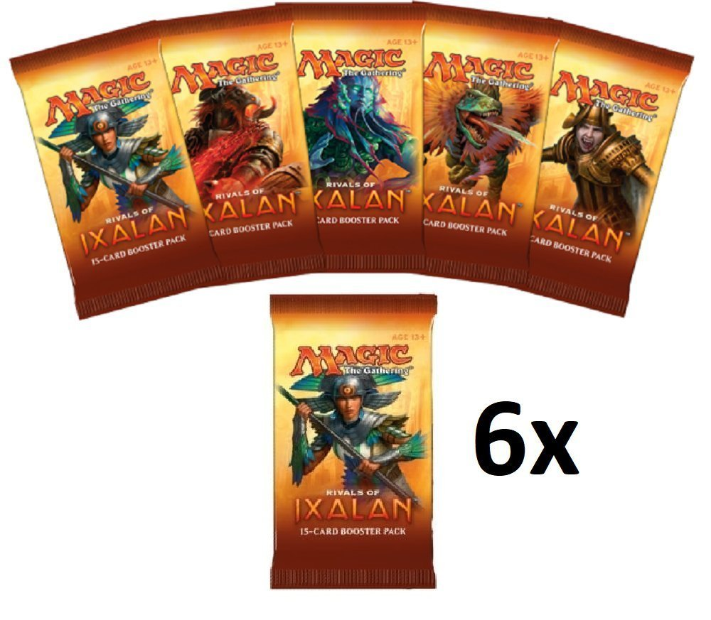 Magic the Gathering (MTG): 6 Rivals of Ixalan Booster Packs - FACTORY SEALED