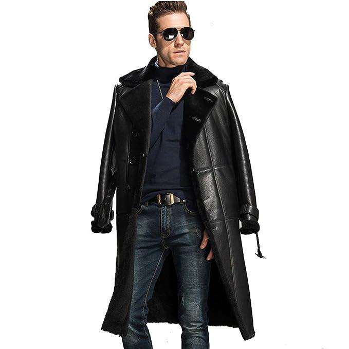 Amazon.com: chamarra de Shearling Coat Yakuza Hombres Black ...