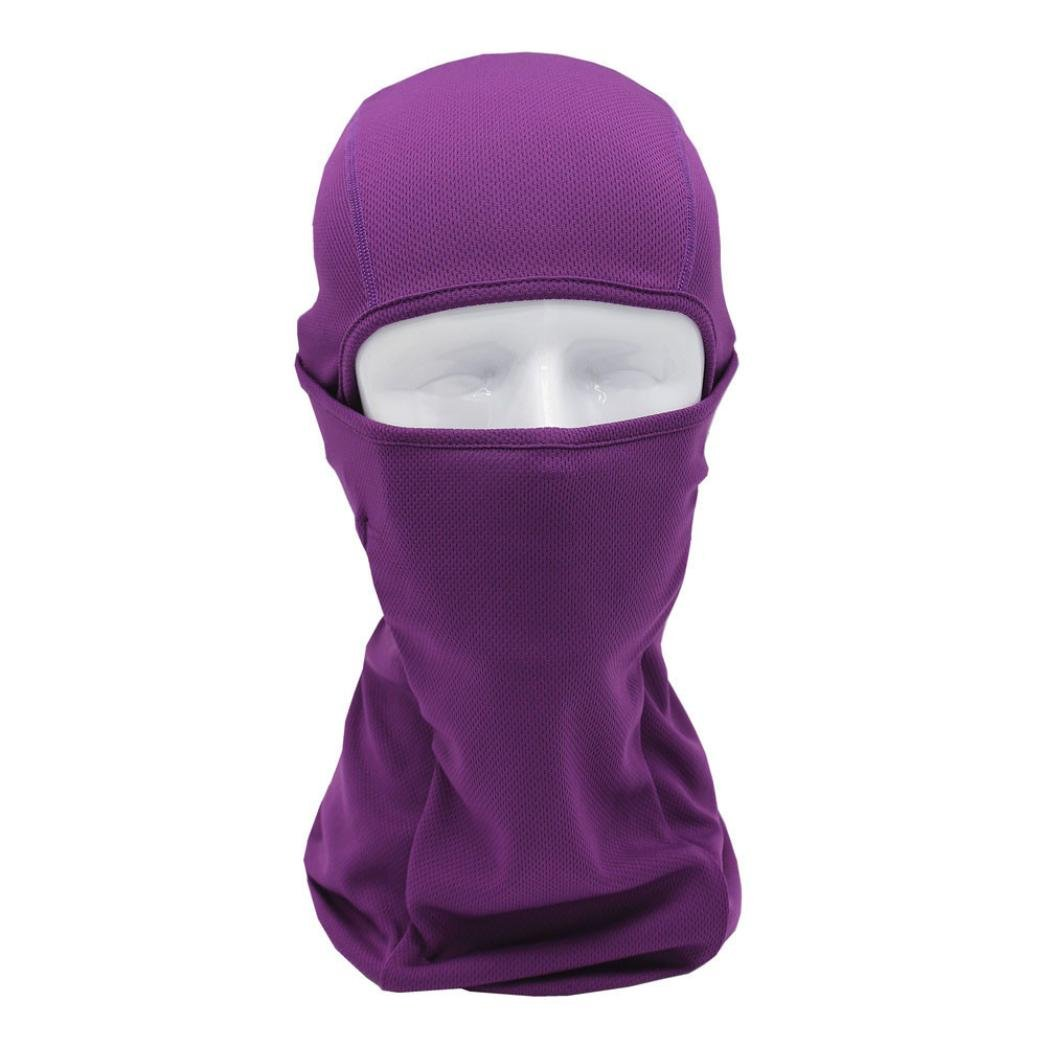 Chartsea Tactical Motorcycle Cycling Hunting Outdoor Ski Full Face Mask Helmet (Purple)