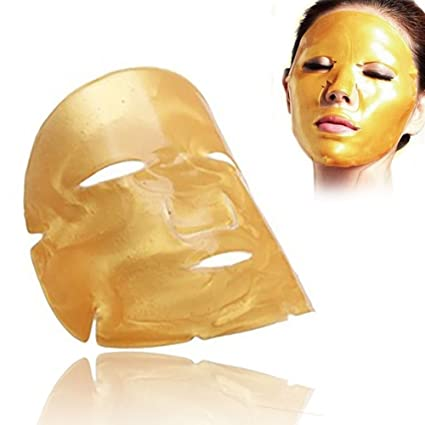 7 piezas de máscara de la cristalina del colágeno de oro para cara Facial Anti envejecimiento