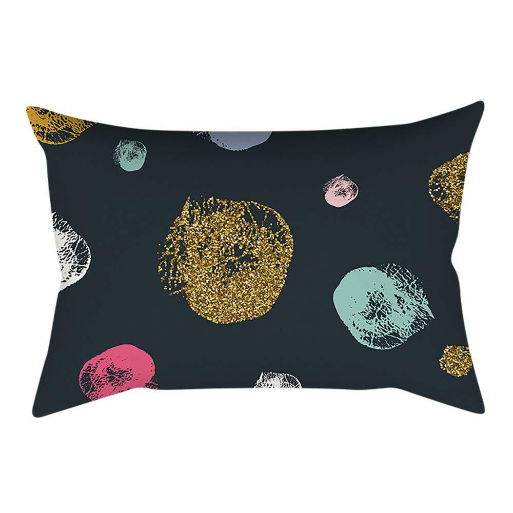 Pgojuni Rectangle Merry Christmas Pillow Case Sofa Waist Linen Blend Pillow Cover Cushion Cover Home Decor 1pc 30cmx50cm (B)