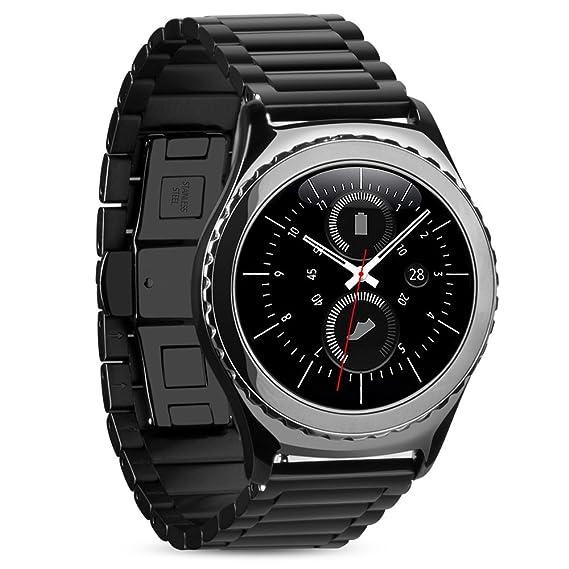 PINHEN 22mm Acero Inoxidable Correa - Gear S3 Pulsera Reemplazo Banda para Galaxy Watch 46mm, Moto 360 2 46mm, Huawei Watch GT, LG G Watch Urban, ...