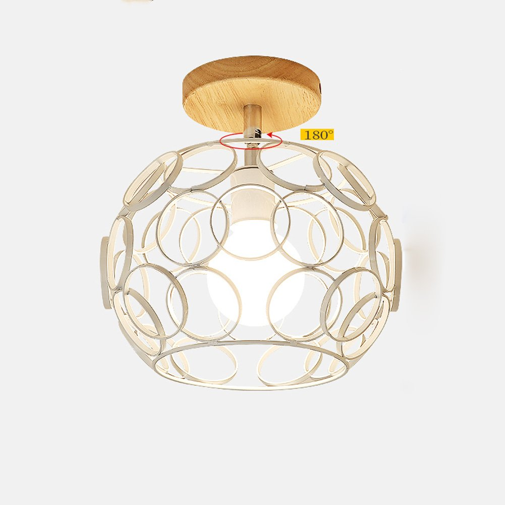Ceiling Lights YXGH- Small Japanese-Style Simple Entrance Northern Europe Log Aisle Light Corridor Stairs Cloakroom Bay Window Balcony Home Fixture Children's Ceiling lamp