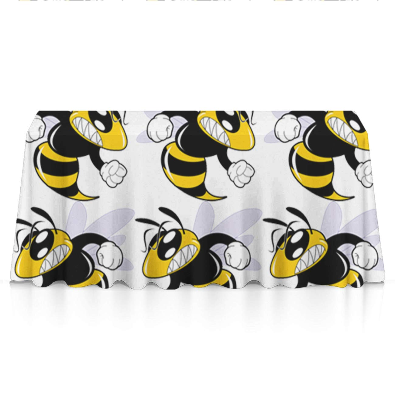 Jinkela Rectangle Polyester Tablecloth Table Cover for Home and Kitchen (Cool Hornet, 60x84 Inch)