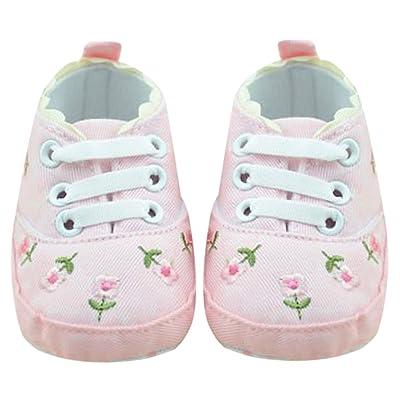 4358117ce8396 La Cabina Chaussures Bébé Fille -Chaussure Bébé Fille Premier Pas - Chaussures Souples Confortable - Chaussures Antiglisse pour Hiver Printemps  été (0-18 ...
