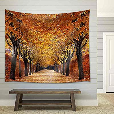 Autumn Alley Fabric Wall, Created Just For You, Fascinating Creative Design