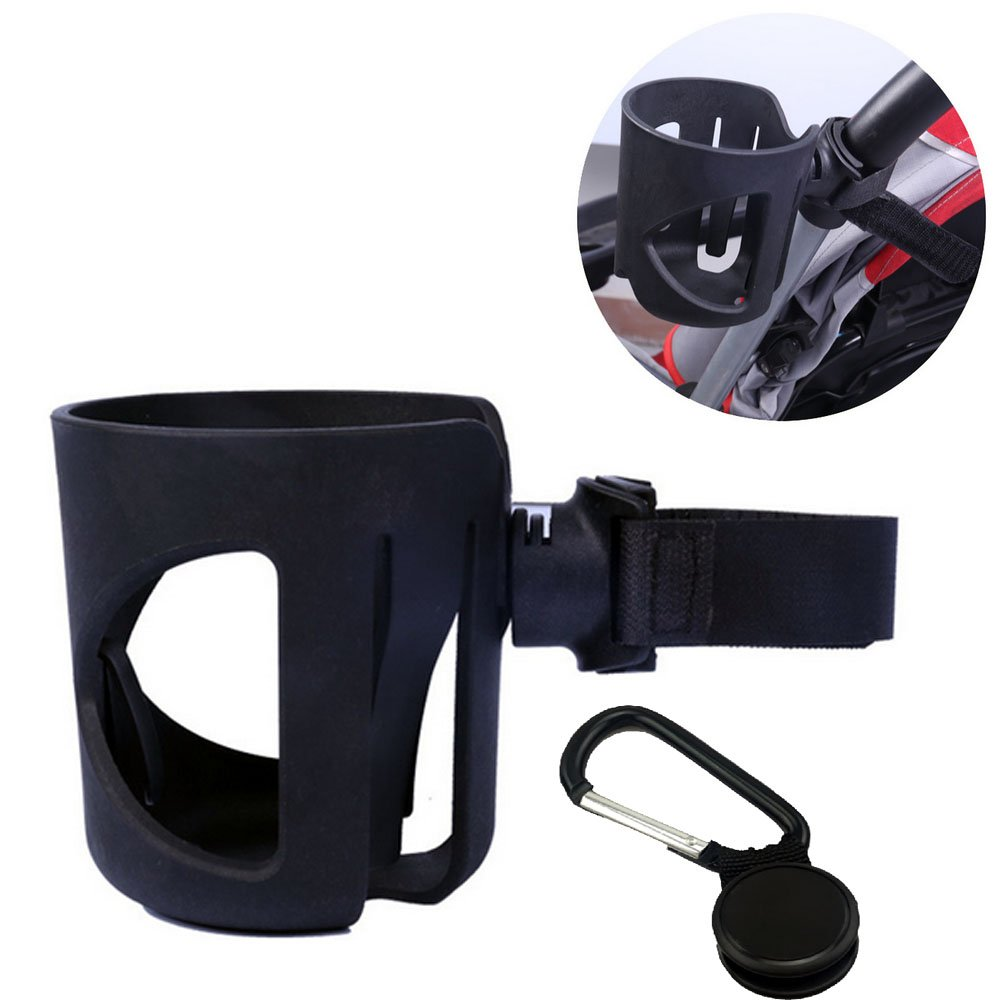 Stroller Cup Holder - Welkey Buggy Pram Pushchair Drink Bottle Cup Holder with Carabiner Clip Hanger