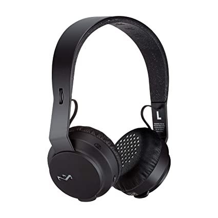 House of Marley Rebel BT Over-Ear Headphones, Black On-Ear Headphones at amazon