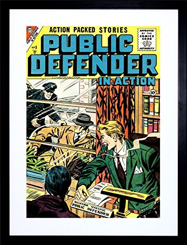 Comic Book Public Defender Action Crime Police Frame Art Print Picture ()