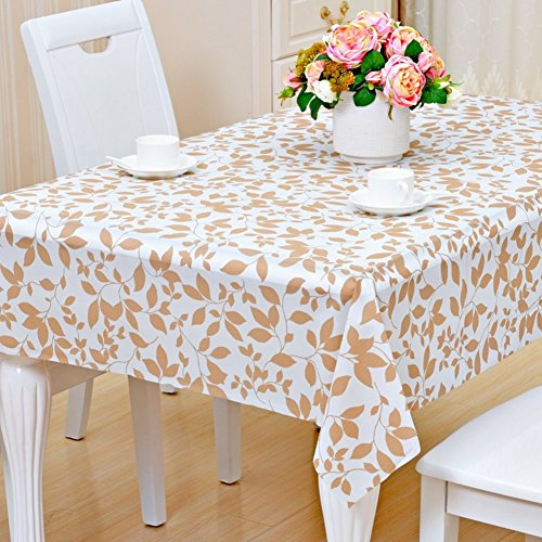 Pvc, plastic tablecloth/coffee table plaid tablecloth/[waterproof], burn-proof, oil-proof , disposable,rectangle tablecloth /european style,pastoral table mat-T 137x190cm(54x75inch) ()