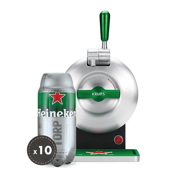 Pack Heineken THE SUB   Tirador de cerveza de barril THE SUB Heineken Edition + 10 TORP Heineken barril de cerveza de 2 litros Consumo Preferente 31/01/2019 ...