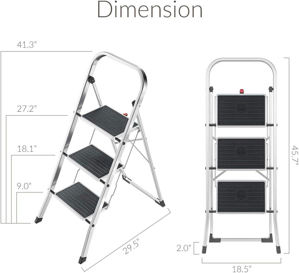 Hailo K30 Escalera plegable Aluminio - Escalera de mano (105 cm, 150 kg, 4,6 kg, 470 mm, 50 mm, 1160 mm): Amazon.es: Bricolaje y herramientas