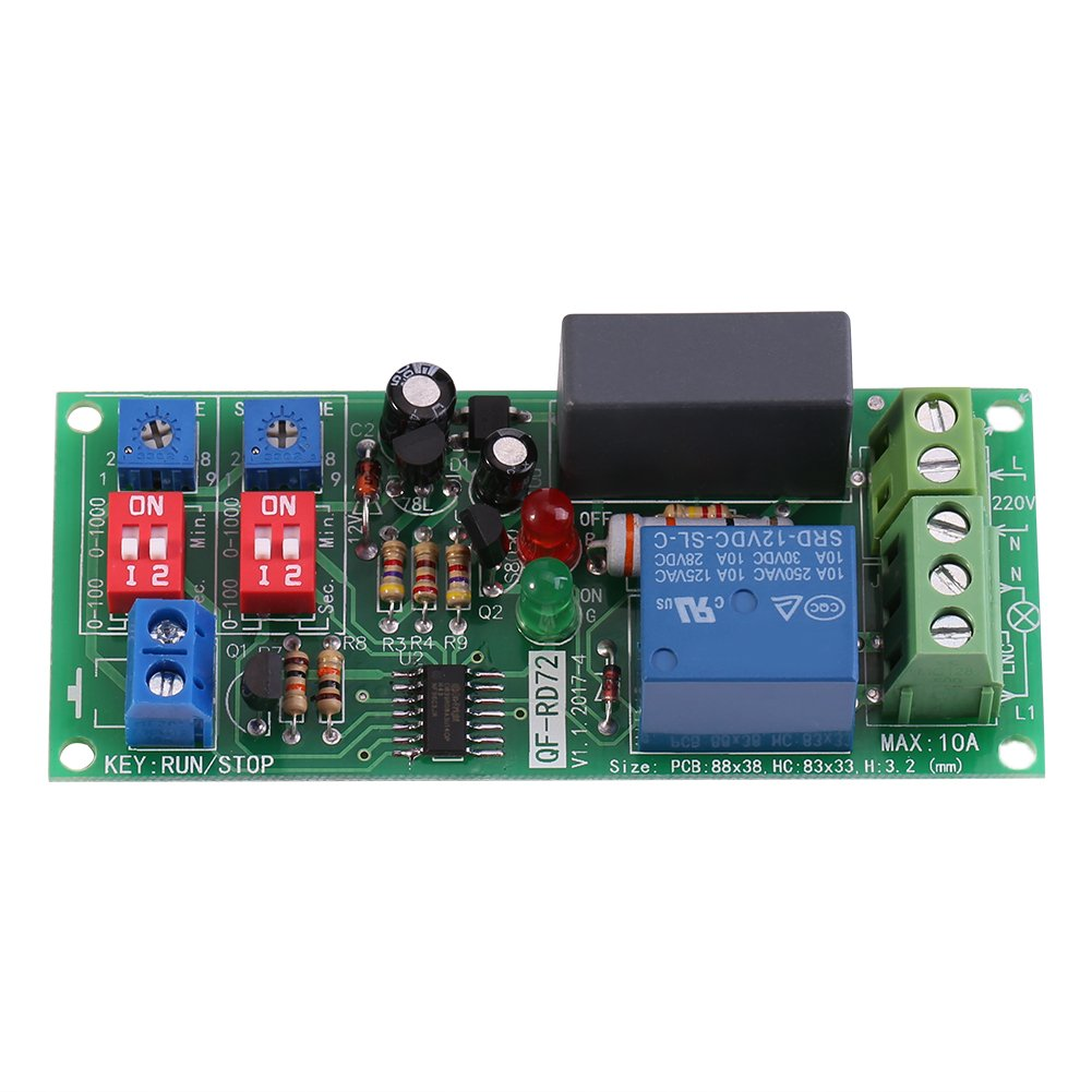 Ac100v250v Infinite Cycle Delay Timer Timing Switch Relay Turn On Spdt 12v 5a Off Module 05s 1000min Adjustable Industrial Scientific