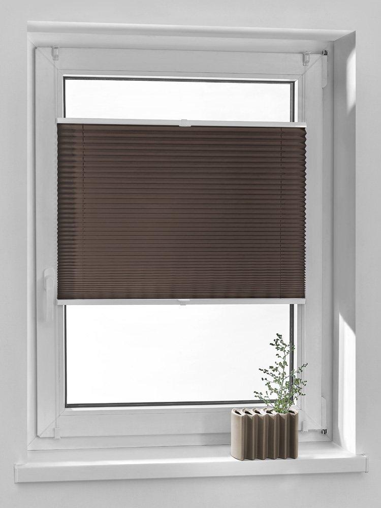 Vidella Tenda oscurante a pieghe comfortino montaggio a finestra, grigio, PC Flash 4, Marrone, PC-6 58