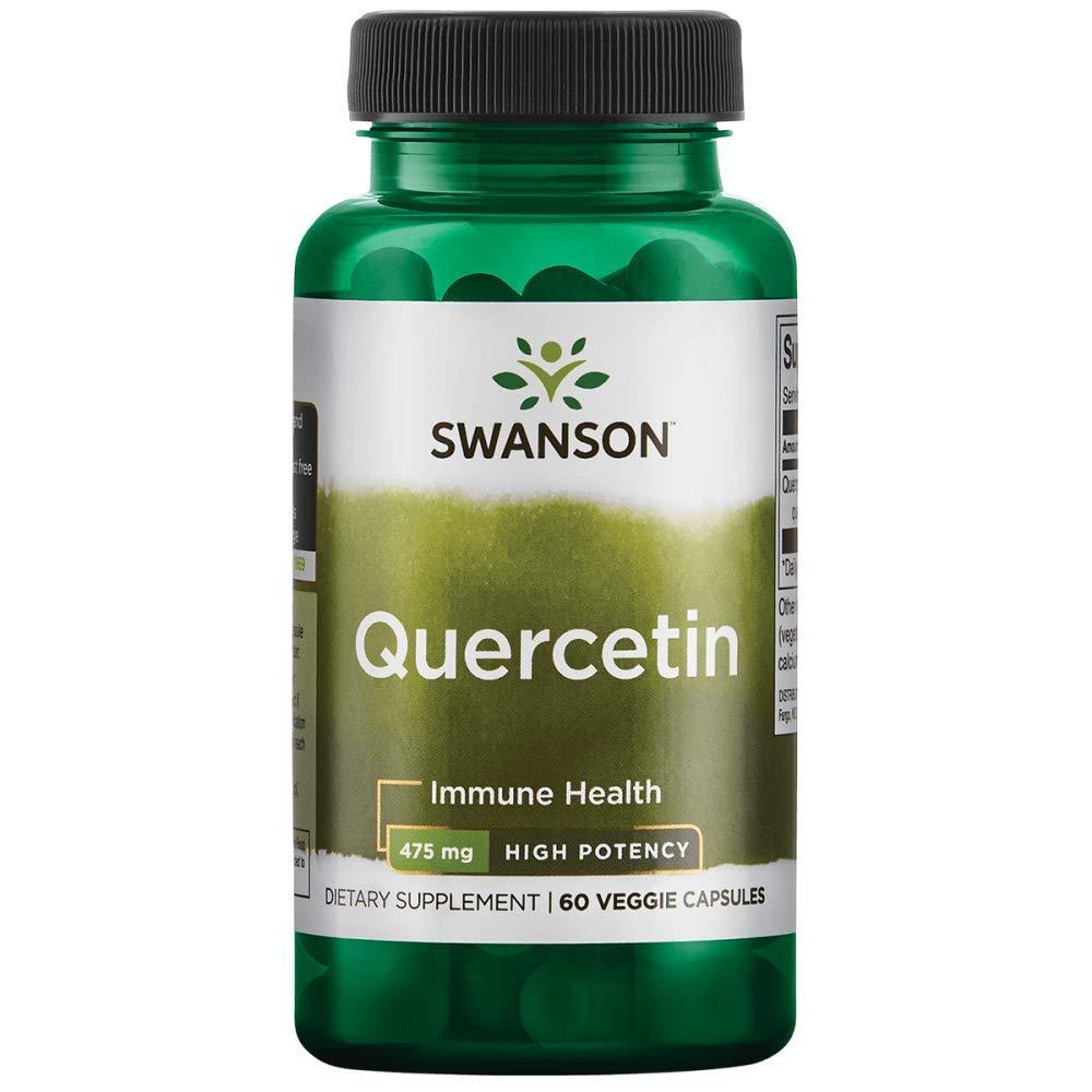 Swanson High Potency Quercetin 475 Milligrams 60 Veg Capsules