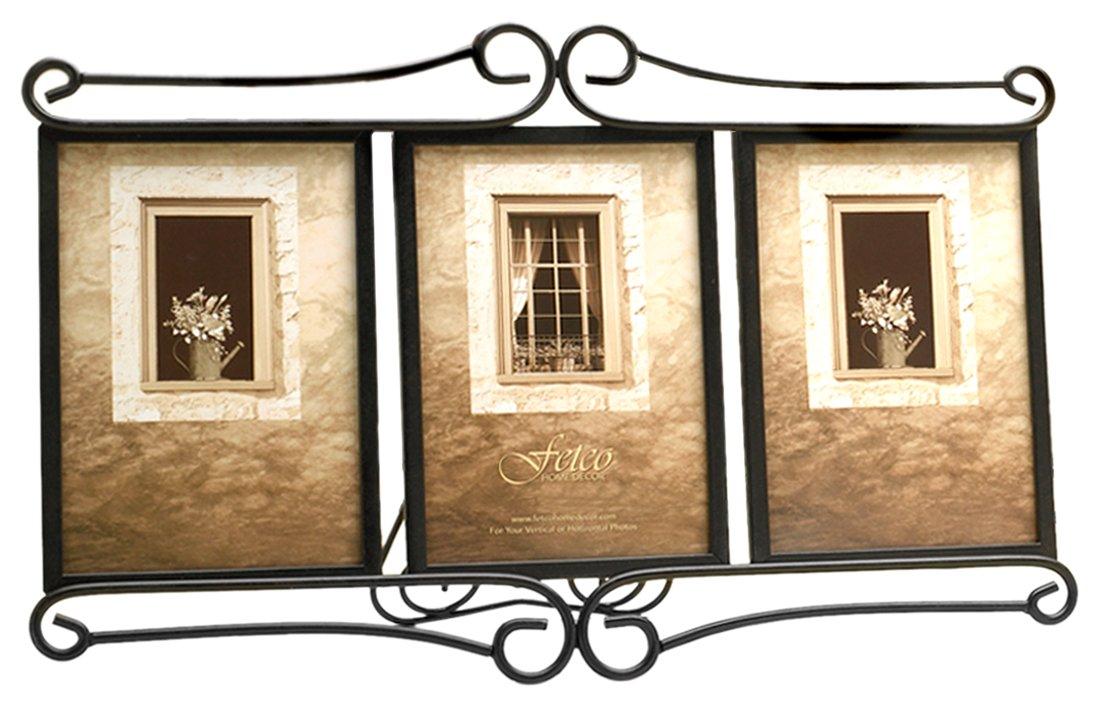Fetco Home Décor 910246T Alton Triple Frame, Bronze