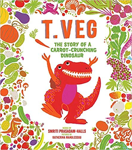Top Vegan Children Books story to accept others difference T-Veg the story of a carrot crunching dinosaur