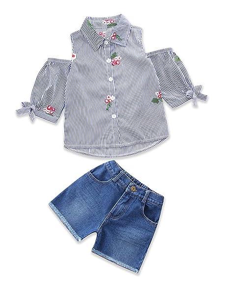 Amazon.com: Conjunto de pantalones cortos de vaquero para ...
