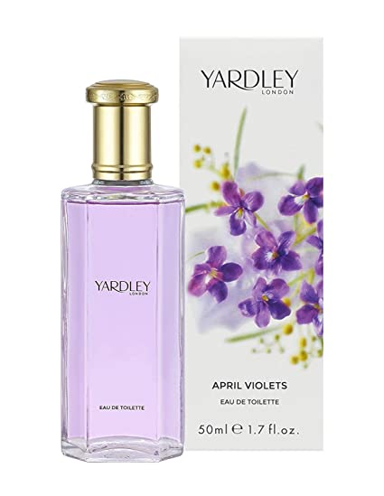 Yardley London April Violets Agua de colonia para mujer, 50 ml