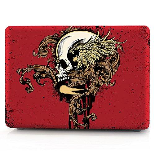 Skull Pattern Hard Case (HRH Creative Skull Pattern Laptop Body Shell Protective Rubberized Hard Case for Apple MacBook Pro 13.3