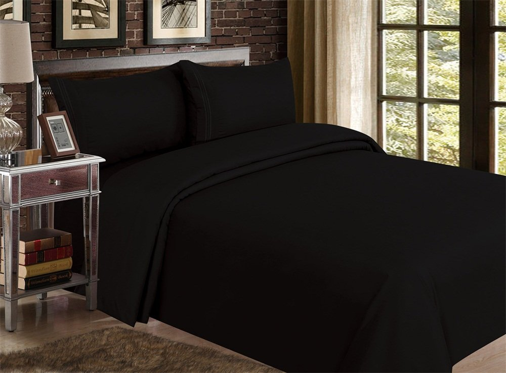 Red Nomad Luxury Duvet Cover & Sham Set, 2 Piece, Twin/Twin XL, Black COMINHKPR48774