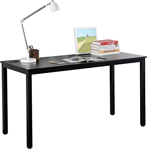 It s_Organized 55 inche Computer Desk Office PC Table Desks,Large Wood Surface Writing Study Table for Home Office,Black