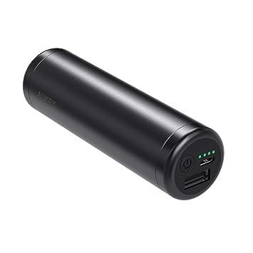 AUKEY Batería Externa de 5000 mAh, Cargadores portátiles compactos con Modo a Corriente Baja, Cargador de batería para Phones, Auriculares Bluetooth, ...