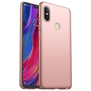 HUUH Funda Xiaomi Redmi Note 6/Xiaomi Redmi Note 6 Pro Elegante y Simple Caja de teléfono ultradelgada de Lujo Anti-Huella Digital refleja ...