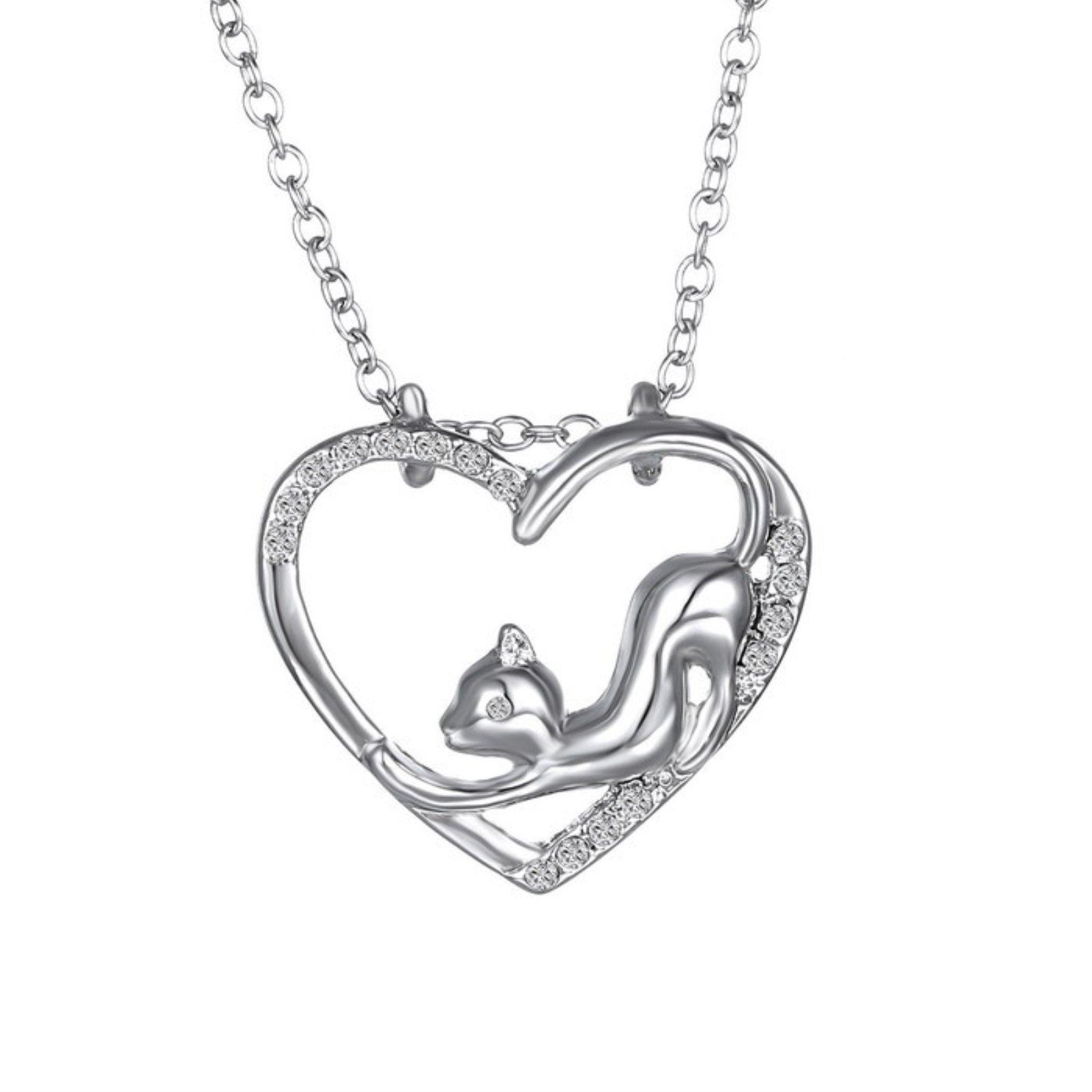 ptk12 wholesale Fashion cute animal Vintage Antique Silver Plated Pendants Choker Necklaces Bijoux