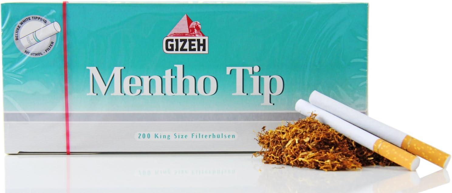 Compra GIZEH Mentho rellenado 200 pcs XL Pack en Amazon.es
