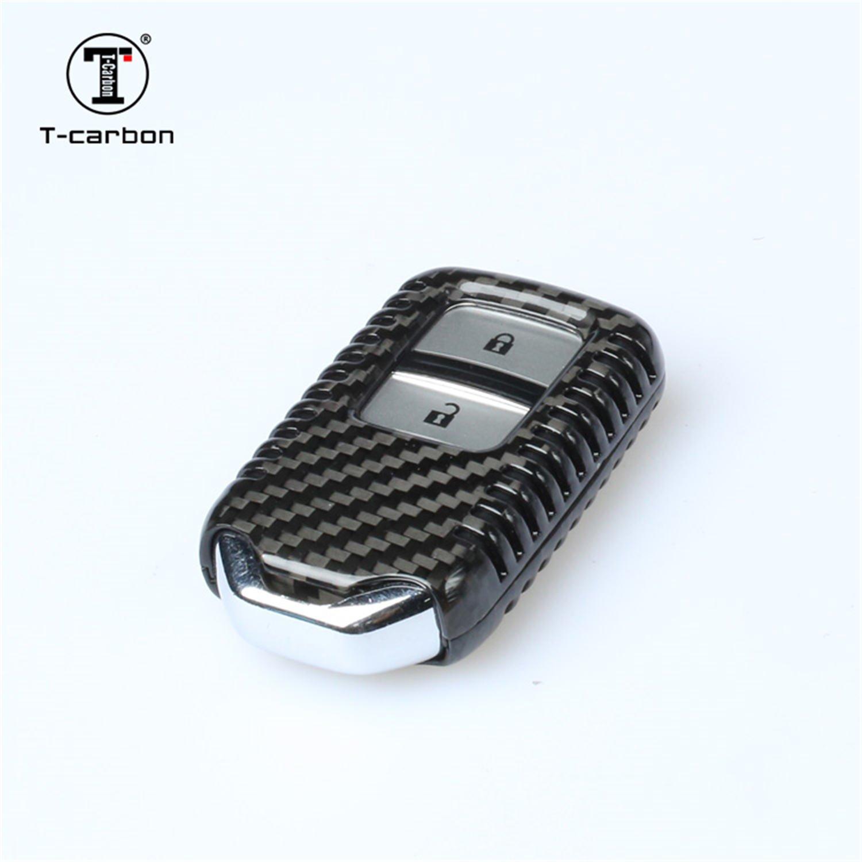 Amazon.com: Fibra de Carbono Key Fob Cubierta para Honda Key ...