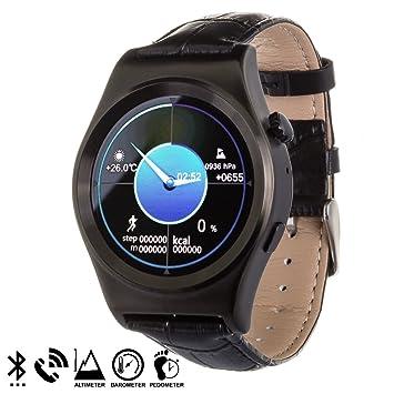 DAM - Smartwatch X10 Black. Compatible con Android e iOS. Sincronización de llamadas, agenda, historial de llamadas, SMS y música del teléfono. Aviso ...