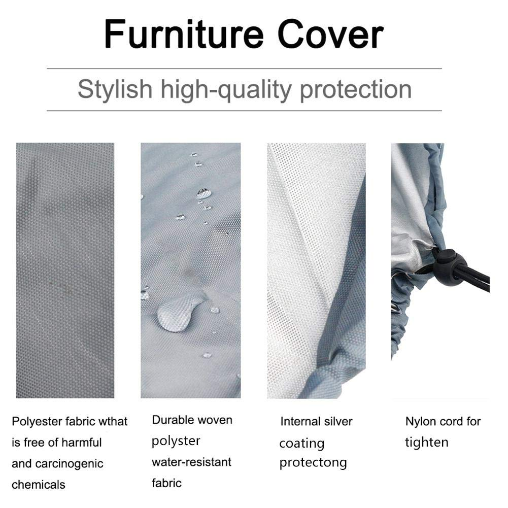 BB-48-DDL soundwinds Rabbit Hutch Cover Waterproof Rabbit Cage Dust Cover Double Layer Bunny Business Hutch Cover for BB-48-DDU BB-48-DDL-TR 210D Oxford Cloth 4FT 481941inch