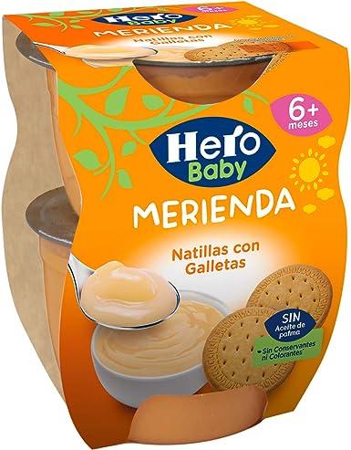 Hero Baby Merienda Puré de Natillas con Galletas para Bebés a partir de 6 meses Pack 2 x 130 g: Amazon.es: Alimentación y bebidas