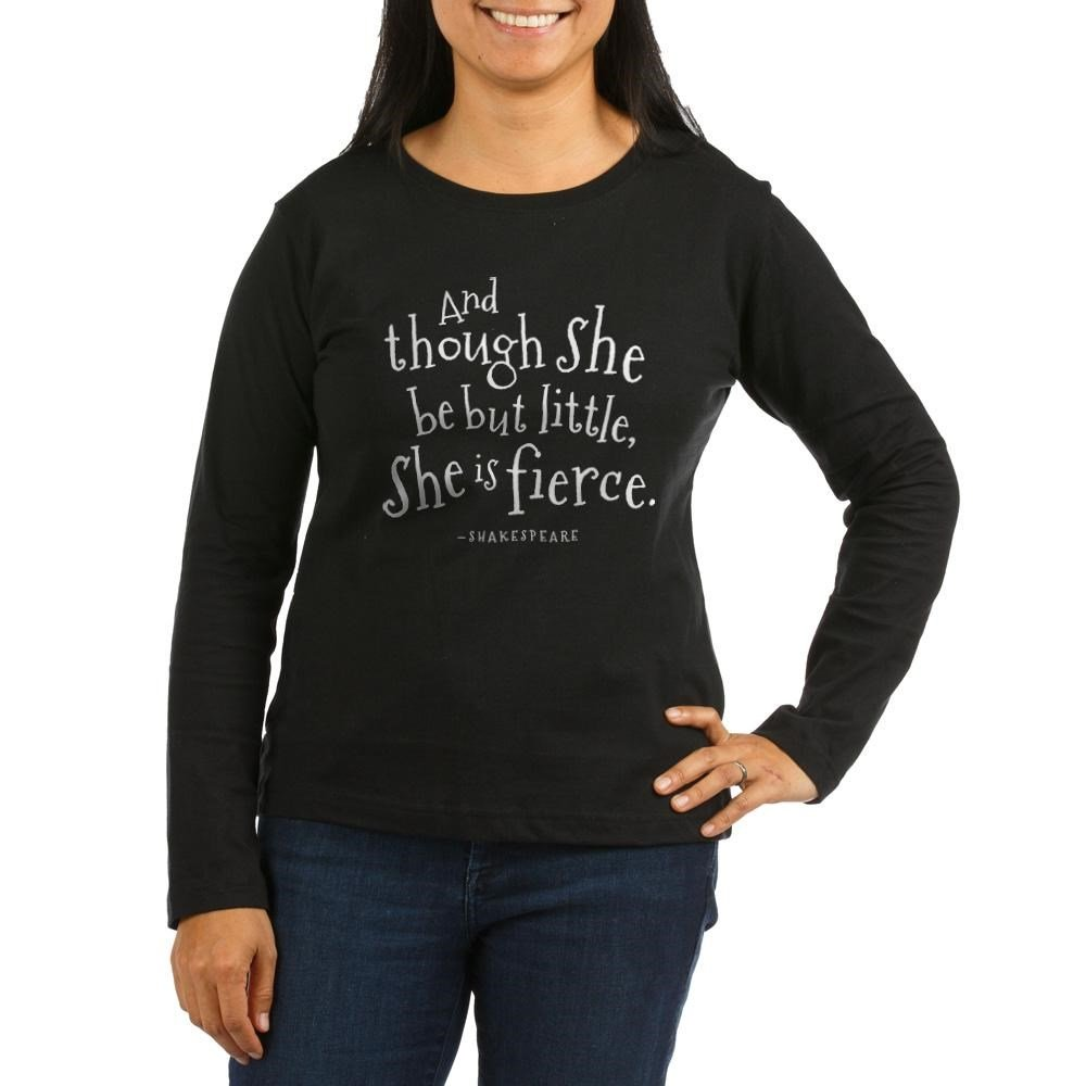 9d3fc280e6 Amazon.com: CafePress - Funny Shakespeare Quote - Women's Long Sleeve T- Shirt, Classic 100% Cotton Crew Neck Shirt: Clothing